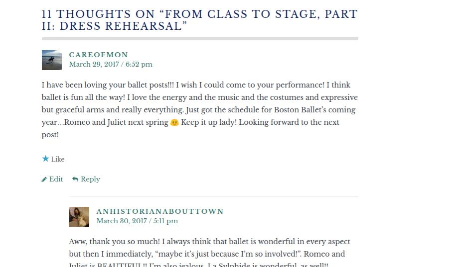 Blogging Comments