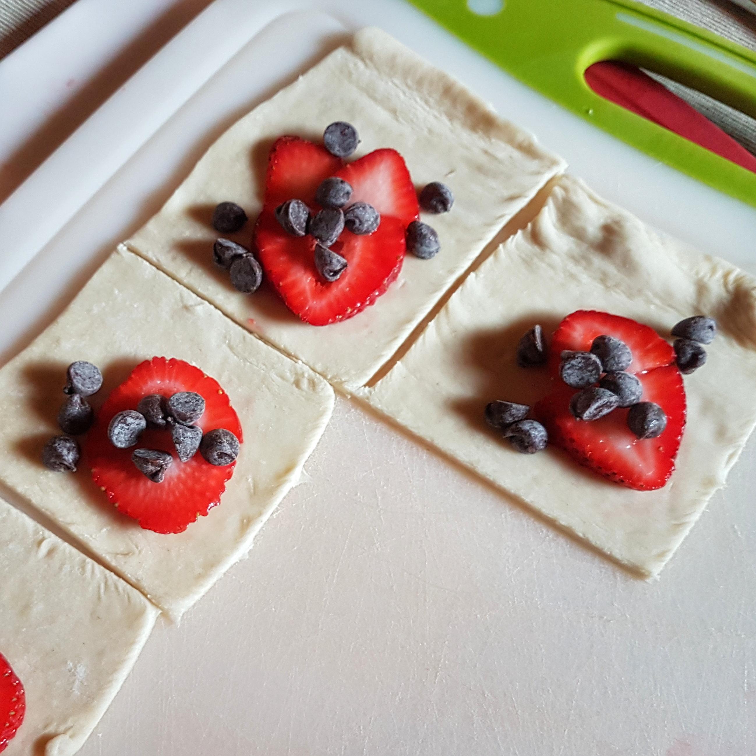 strawberry chocolate pastry prebake