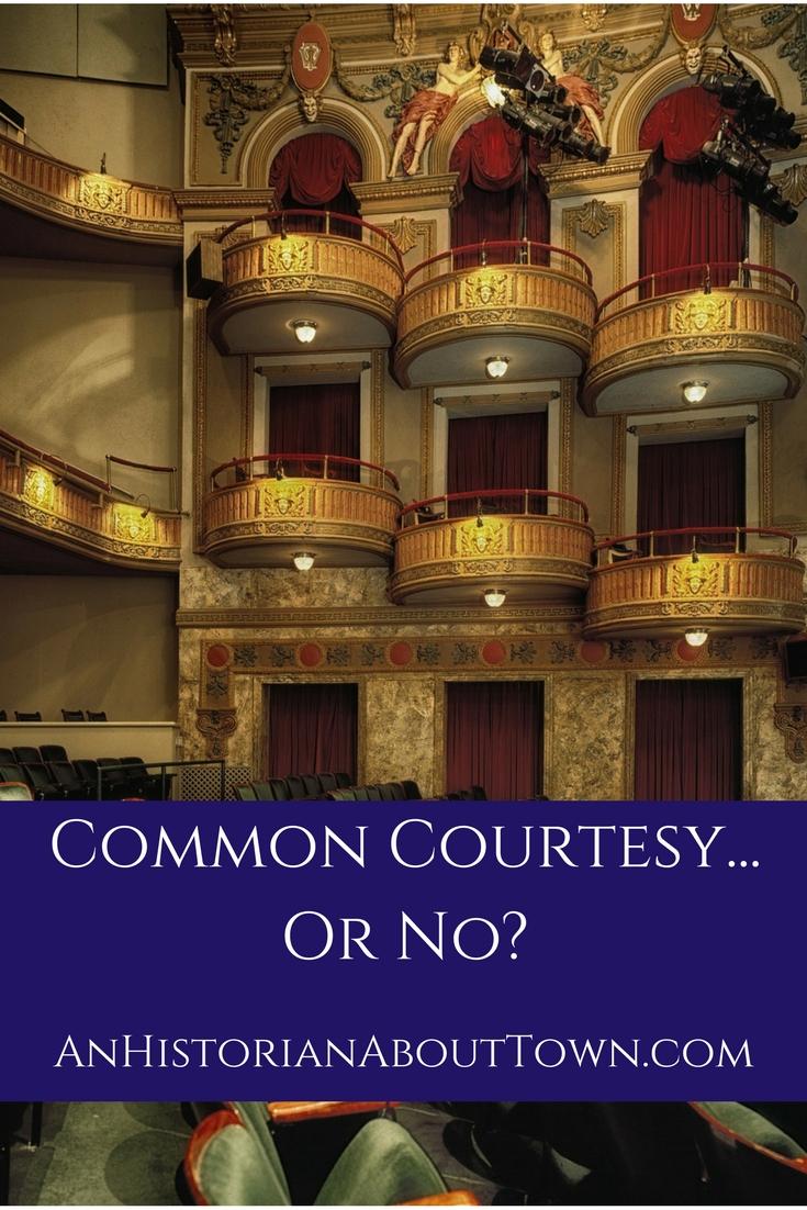 Common Courtesy...Or No_